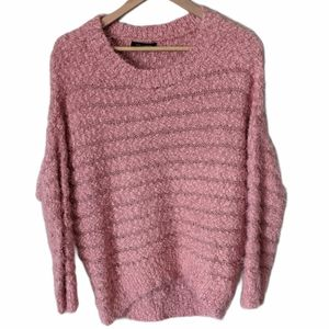 QED London Dusty Pink Chunky Knit Sweater